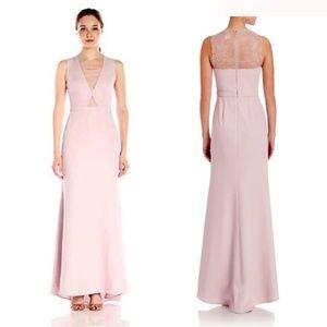 BCBGMAXARIA Blush Pink Lavender Gown Landen Lace B